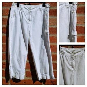 🎰2/$20 Cropped white cotton cropped pants